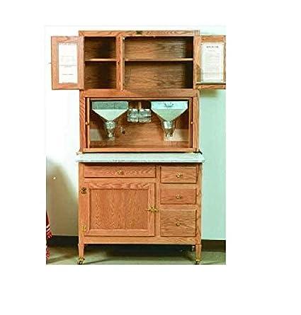 Build-Your-Own Hoosier Kitchen Cabinet Plan - American Furniture Design