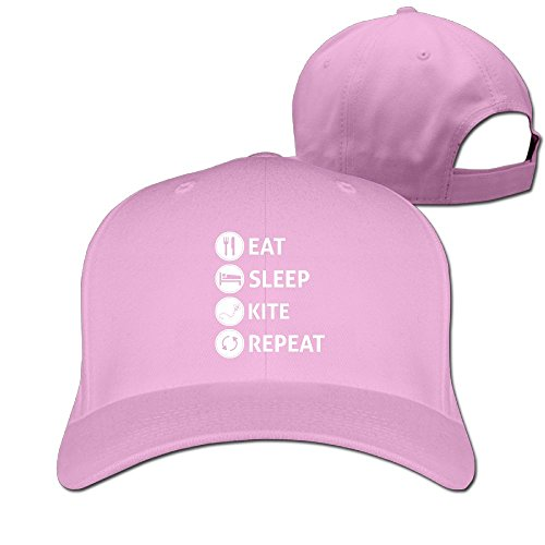 Eat Sleep Kite Repeat Unisex Adjustable Football Hat & Cap Pink - College Mascots Costumes For Kids