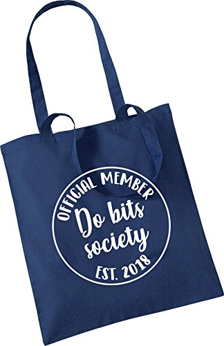 Pretty Little Stickers Official Member Do Bits Society Tote Bag Navy Blue