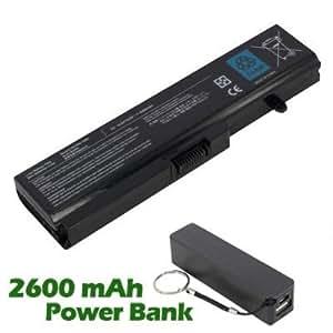 Battpit Bateria de repuesto para portátiles Toshiba Portege T111 Series (4400 mah) con 2600mAh Banco de energía / batería externa (negro) para Smartphone
