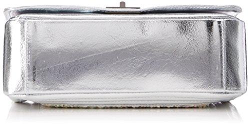 Chicca Borse 8634, Borsa a Spalla Donna, 28x18x10 cm (W x H x L) Argento