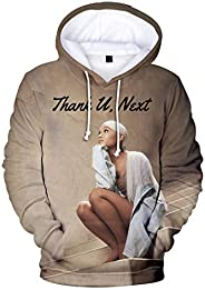MIYECC Girl's 3D Printed Aria-na Gran-de Hooded Sweatshirt Fan Support Ho