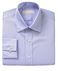 Michael Kors Men's White Cotton Dress Shirt