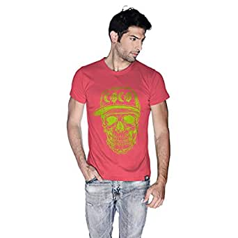 Creo Green Coco Skull T-Shirt For Men - Xl, Pink