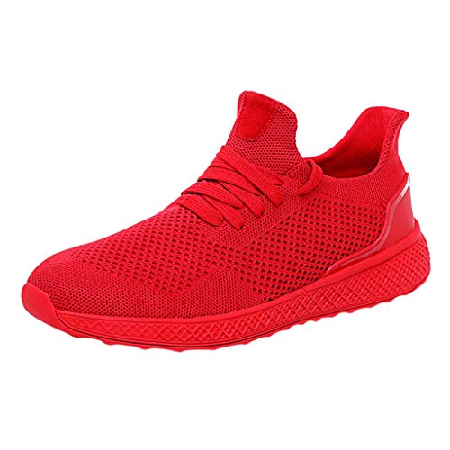 JJLIKER Men's Mesh Running Shoes Fashion Breathable Sneakers Soft Sole Casual Athletic Lightweight Walking Shoes Summer