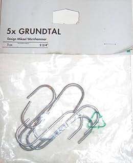 "IKEA Grundtal 5 pc S Hook Hangers - 2.75"" (B003UBG10E) | Amazon price tracker / tracking, Amazon price history charts, Amazon price watches, Amazon price drop alerts"