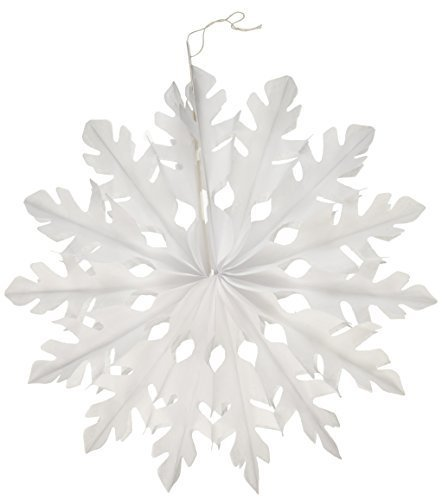 (Beistle 1-Pack White Tissue Snowflakes for Parties, 15-Inch by Beistle)
