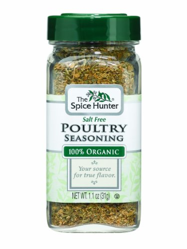The Spice Hunter Poultry Seasoning, Organic, 1.1-Ounce Jars (Pack of 6)