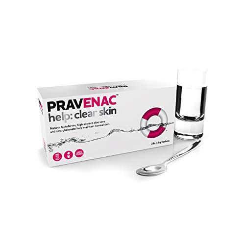 Arbeit mit Wasser, Hilfe: klare Haut, 28 Tage, natürliches antibakterielles Lactoferrin, eine klinisch bewiesene, natürliche Art, um Flecken und Akne zu reduzieren.