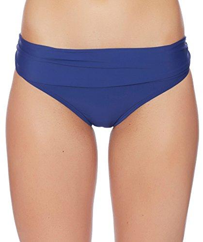 ATHENA Women's Lani Solid Banded Bikini Bottom, Navy, X-Small