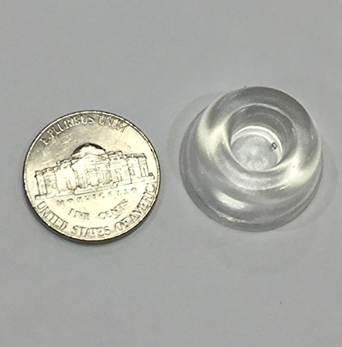 Small Clear Door Knob Bumpers (Set of 12) - Made in USA - Self-Adhesive Door Stoppers Wall Protectors Rubber Feet for Speakers, Electronics, Furniture