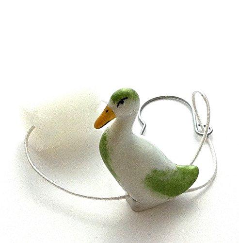 Porzellan Tropfenfänger Ente stehend