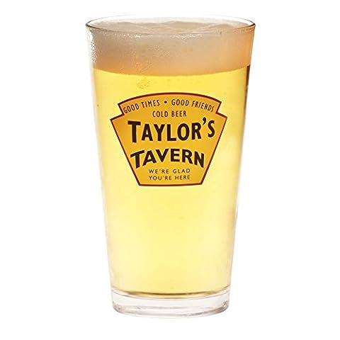Personalized Tavern Pint Glasses - Customizable Barware - Set Of 4 - Monogram Pint Glass