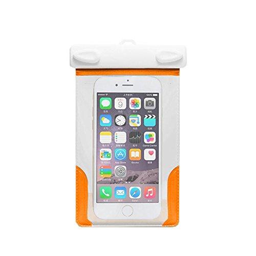 ピン記念日慣性タッチスクリーン防水カバー水中カメラユニバーサルスイムスパオレンジ