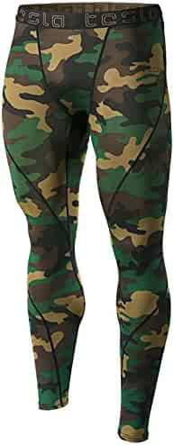 Tesla Men's Compression Pants Baselayer Cool Dry Sports Tights Leggings MUP19 / MUP09 / P16