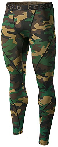 TM-MUP19-MOV_Large Tesla Men's Compression Pants Baselayer Cool Dry Sports Tights (Mens Sports Wears)