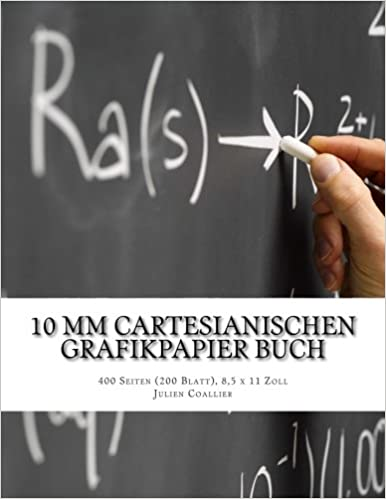 10 mm Cartesianischen Grafikpapier Buch: 400 Seiten (200 Blatt), 8, 5 x 11 Zoll