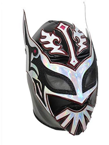 SIN CARA Adult Lucha Libre Wrestling Mask (pro-fit) Costume Wear - Premium Black]()