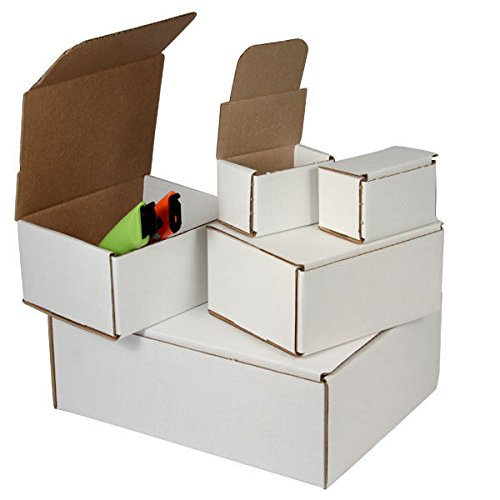 100-5 x 4 x 4 White Corrugated Shipping Mailer Packing Box Boxes
