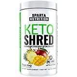 Sparta Nutrition Keto Shred: Exogenous Ketone Weight Loss Powder, Ketosis Supplement Ketone Salt Drink to Burn Fat, Keto Energy Powder to Boost Metabolism with BHBs / MCTs, Pineapple Mango, 40 Scoops