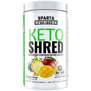 Sparta Nutrition Keto Shred: Exogenous Ketone Weight Loss Powder, Ketosis Supplement Ketone Salt Drink to Burn Fat, Keto Energy Powder to Boost Metabolism with BHBs / MCTs, Pineapple Mango, 40 Scoops by Sparta Nutrition