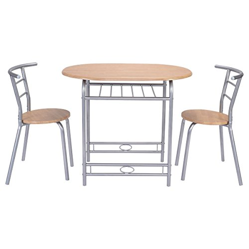 Giantex 3 PCS Table Chairs Set Kitchen Furniture Pub Home Restaurant Dining Set