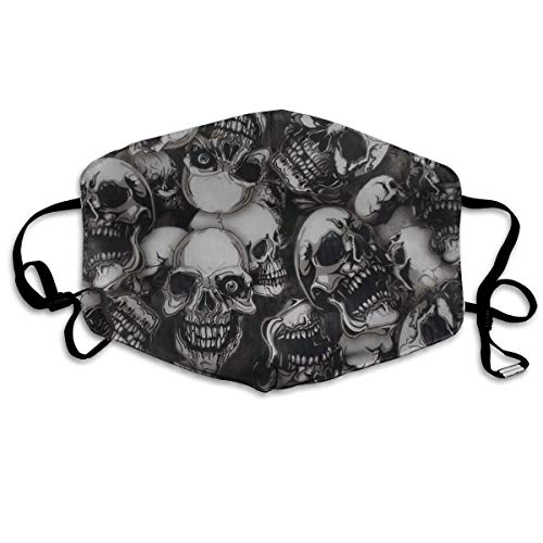 - Mr.Roadman Unisex Mouth Mask Cool Skulls Seamless Art Polyester Anti-dust Masks Washed Reusable Face Mask for Outdoor Cycling