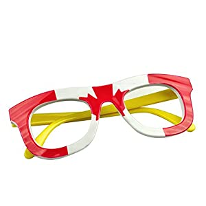 TopTie Wholesale Kids Eye Glasses Frames Flag Print Eyewear for Party Patriotism-Canada-1 Pc