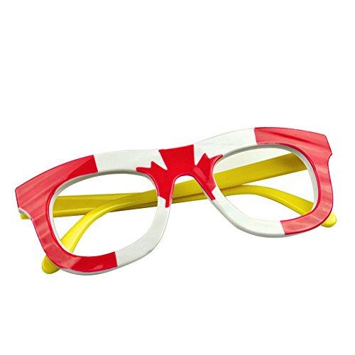 TopTie Wholesale Kids Eye Glasses Frames Flag Print Eyewear for Party Patriotism-Canada-1 ()