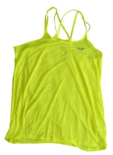 (Nike Women's Dri-Fit Running Tank Top Yellow 811449 702 (l))