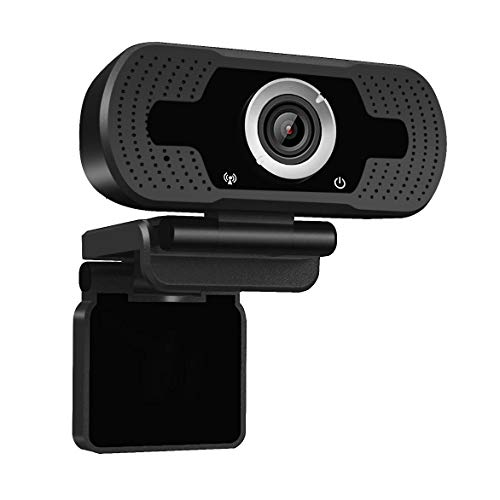Dericam 720P HD Live Streaming Webcam, USB Desktop and Laptop Webcam, Mini Plug and Play Video Calling Computer Camera, Built-in Mic, Flexible Rotatable Clip, W1, US, Black