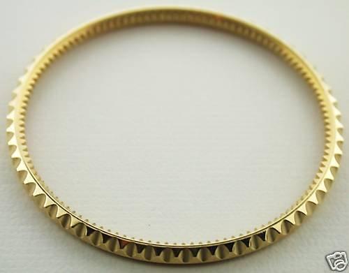 Real Gold 18k Bezel Insert for Rolex Submariner 16800, 16613