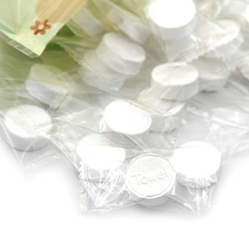 KLOUD City 100pcs Disposable Mini Compressed Cotton Towel for Home/Beauty Salon/Travel/Sports