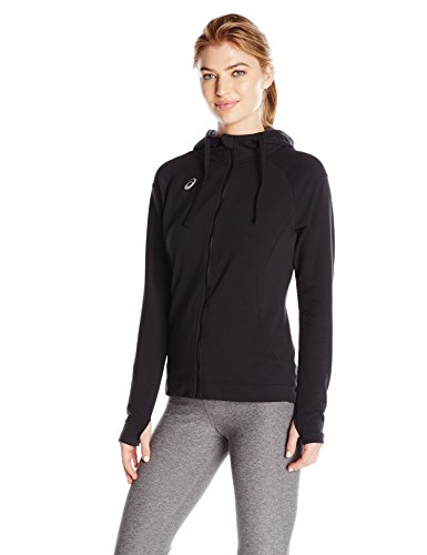 ASICS Women's Team Everyday Jacket, Black, X-Large (Team Run Jacket)
