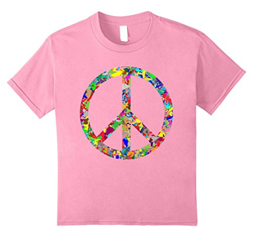 Kids Peace Sign T-Shirt 8 Pink Kids Peace Sign