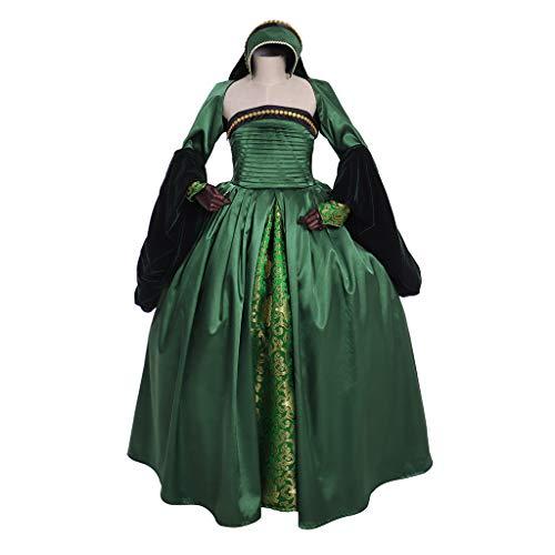 Fortunehouse Anne Boleyn Girls Dress Tudor Queen Anne Costume Blue Girls Dress (Custom Made) -