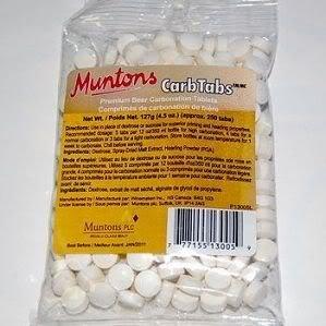 Premium Carbonation Tablets (4.5 oz) (Muntons Dry Malt Extract)
