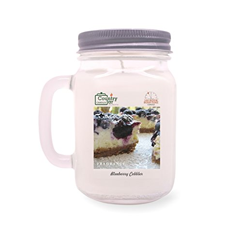 Country Jar Blueberry Cheesecake Mason Jar Candle (16 oz.) 100% Natural Soy (3 OR More Sale!)