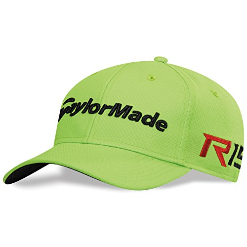New 2015 Men's Taylormade Golf Tour Cage R15 Fitted Hat COLOR: Lime SIZE: L/XL