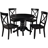 Home Styles 5178-318 5-Piece Dining Set, Black Finish