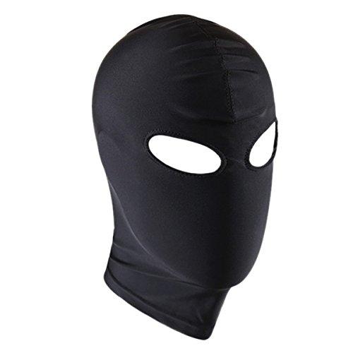 Freebily Unisex headgear Blindfold Mask Spandex Eye Face Open Mouth Hood Head Costume Open Eye One Size