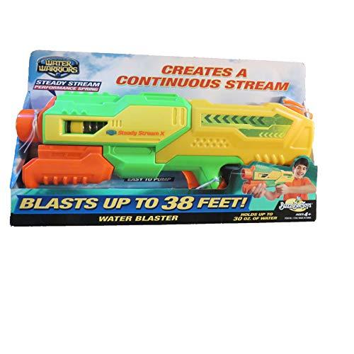 - Water Warriors Steady Stream X Water Blaster Blasts up to 38 feet
