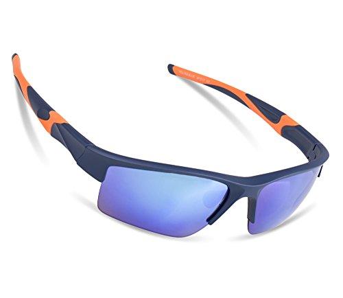 Sports Sunglasses ilikable Women Sunglasses 100% UVA/UVB Protection Unbreakable Half-rim Sunglasses Googles for Driving Cycling Camping Climbing Vocation Golfing - - Protection Wind Sunglasses