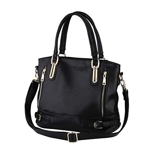 femmes luxe main femmes Casual à en Black mode Messenger véritable sacs de Designer sacs cuir épaule StFTnT