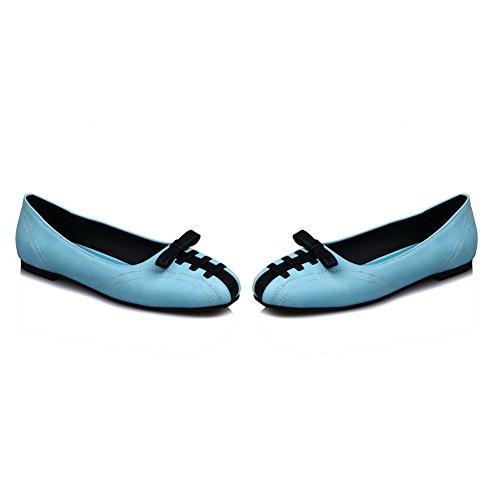 Balamasa Dames Two-tone Strikjes Urethane Loafer-flats Blauw-in-teen Blauw