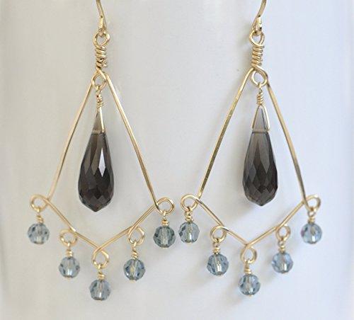 Smoky Quartz Chandelier Earrings - 9