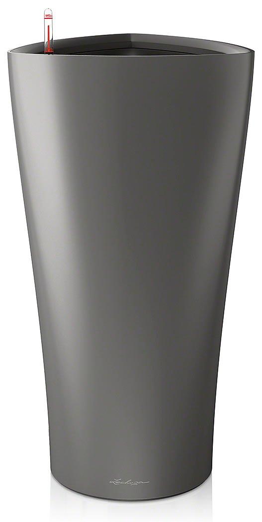 Lechuza Premiuim Delta 4075cm hoch Metallic Charcoal Selbstwässernder Blumentopf,