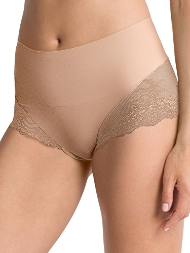 Soft Hipster Brief - SPANX Women's UndieTectable Lace High Hipster Briefs, Soft Nude, Medium