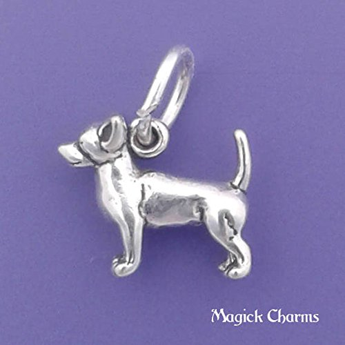 - 925 Sterling Silver 3-D Chihuahua Dog Charm Miniature Jewelry Making Supply, Pendant, Charms, Bracelet, DIY Crafting by Wholesale Charms