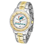 Game Time NFL Miami Dolphins Mens Two-Tone CompetitorWrist Watch, White, One Size